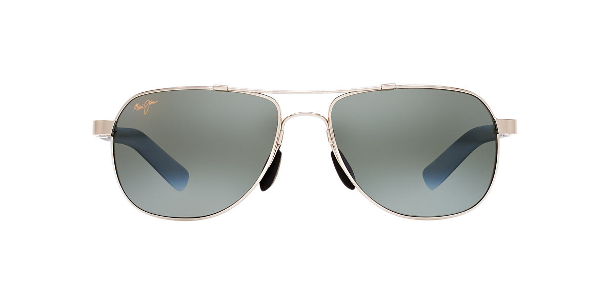 MAUI JIM Silver 327 GUARDRAILS Grey polarized lenses 58mm