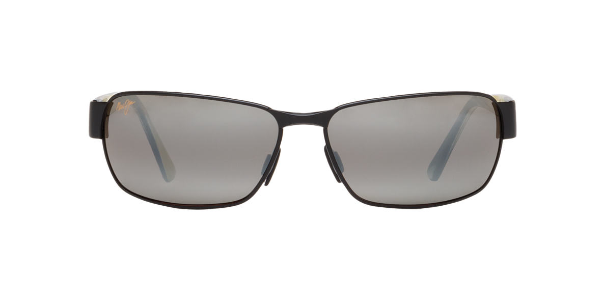 MAUI JIM Black Matte 249 BLACK CORAL Grey polarized lenses 65mm