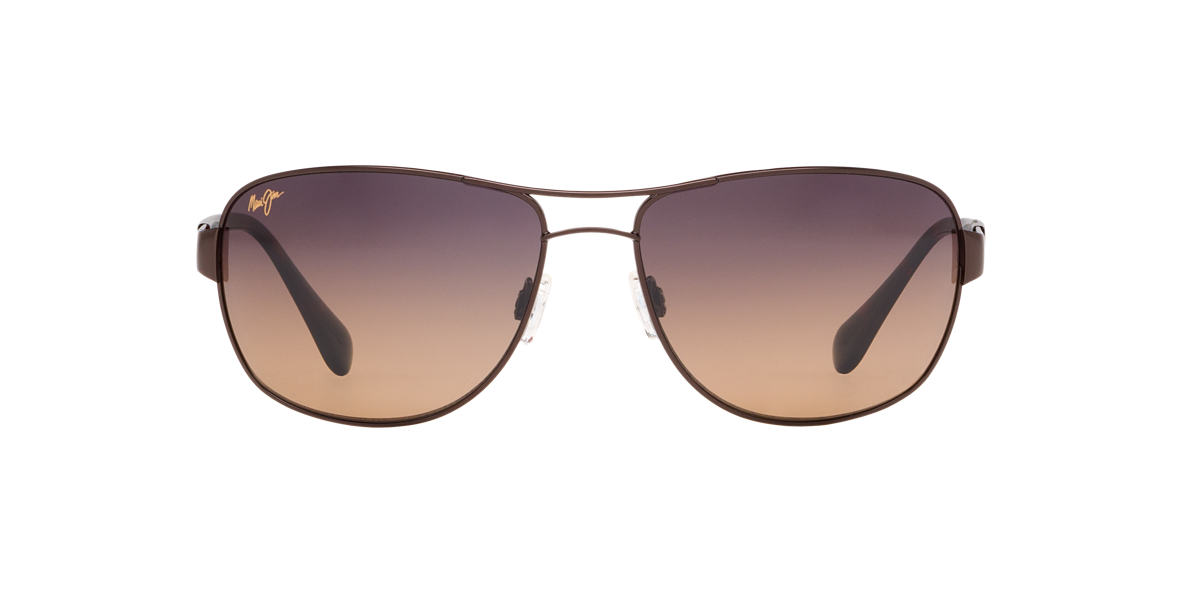MAUI JIM Brown 253 SAND ISLAND Bronze polarized lenses 63mm
