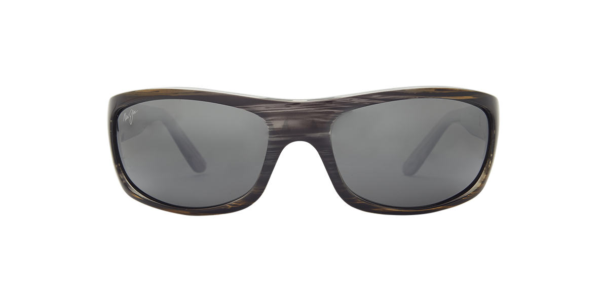 MAUI JIM Silver MJ 261 Grey polarised lenses 63mm
