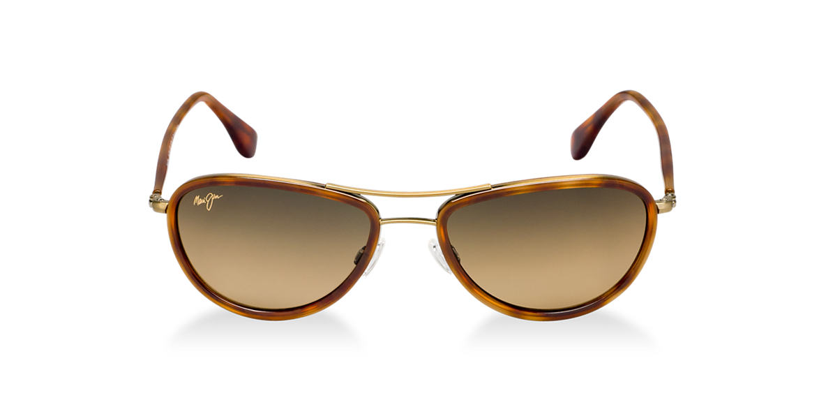 MAUI JIM Gold Shiny 251 SMALL KINE Bronze polarized lenses 54mm