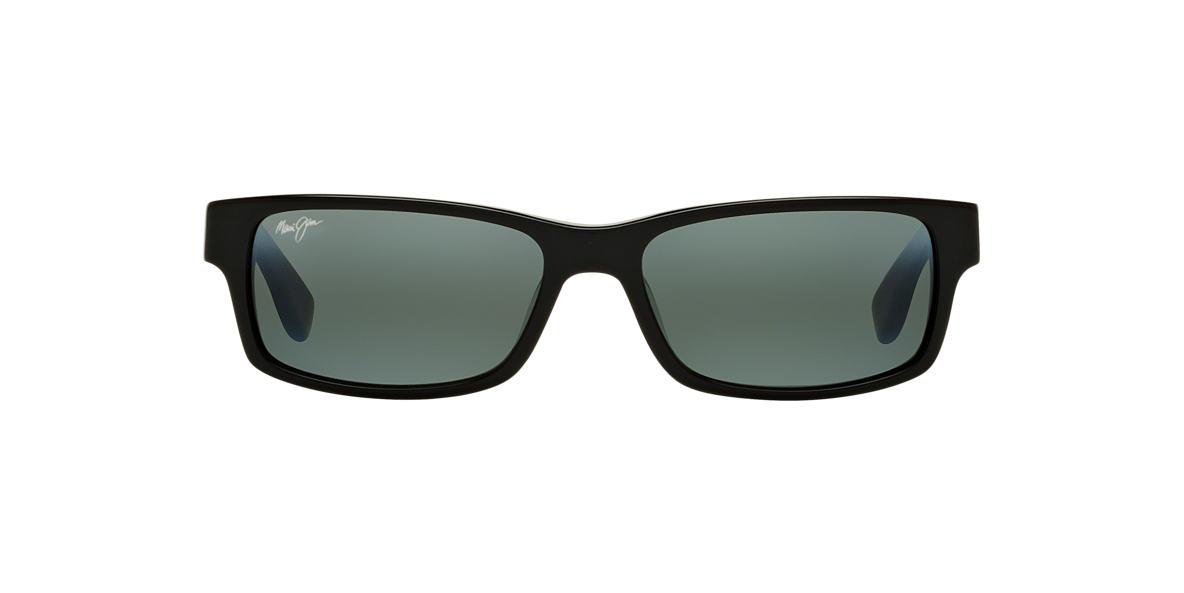 MAUI JIM Black 298 HIDDEN PINNACLE 55 Grey polarised lenses 55mm