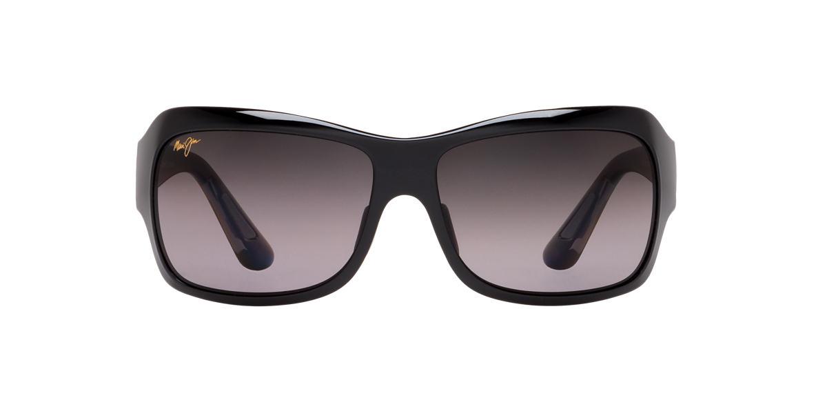 MAUI JIM Black Shiny 418 SEVEN POOLS 62 Grey polarized lenses 62mm