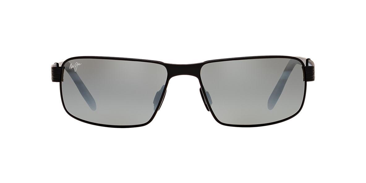 MAUI JIM Black Matte 187 CASTAWAY 63 Grey polarized lenses 63mm