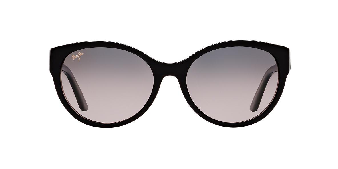 MAUI JIM Black Shiny 100 VENUS POOLS 58 Grey polarized lenses 58mm