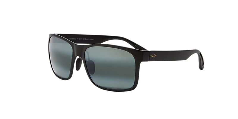 Maui Jim 423 Red Sands 59 Black Matte Rectangle Sunglasses