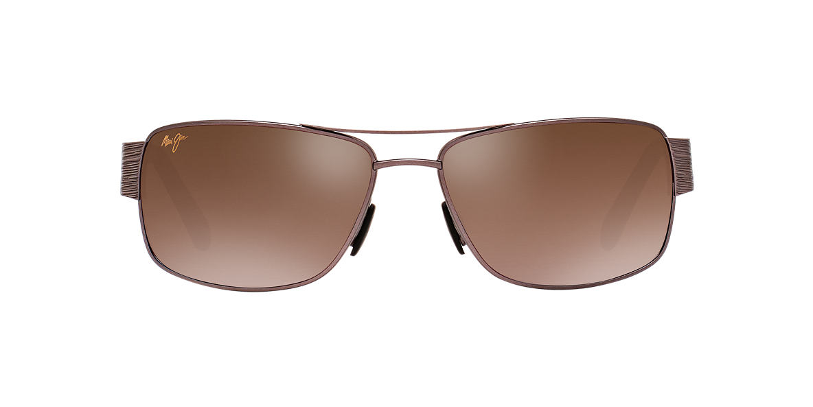 MAUI JIM Gunmetal 703 OHIA 64 Rose Gold polarized lenses 64mm