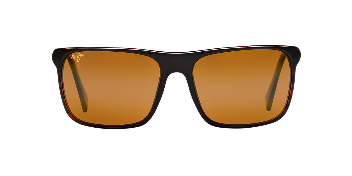 MAUI JIM Brown FLAT ISLAND Brown polarised lenses 58mm
