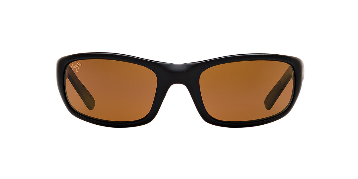 MAUI JIM Black Matte 103 STINGRAY 55 Bronze polarized lenses 55mm