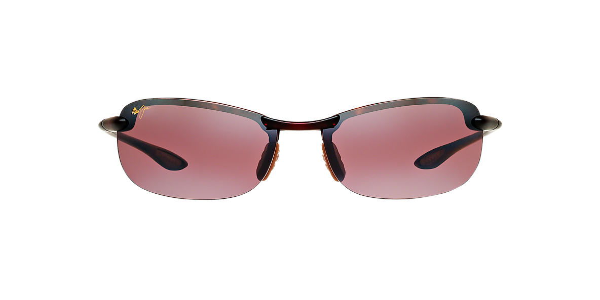 MAUI JIM Tortoise Matte 405 MAKAHA 65 Pink polarized lenses 65mm