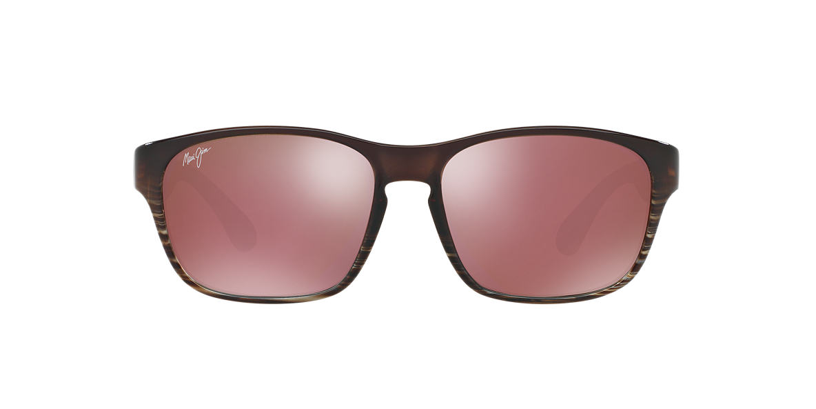 MAUI JIM Brown 721 MIXED PLATE 58 Pink polarized lenses 58mm