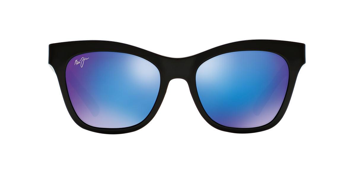 MAUI JIM Black 722 SWEET LEILANI 53 Blue polarized lenses 53mm