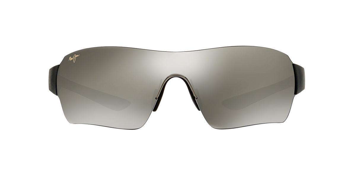 MAUI JIM Black Matte 521 NIGHT DRIVE 32 Grey polarized lenses 32mm