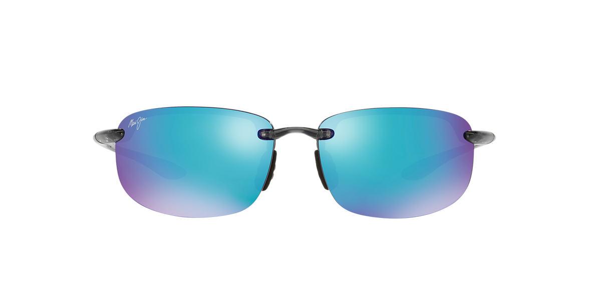 MAUI JIM Grey 407 HOOKIPA BH 64 Blue polarized lenses 64mm