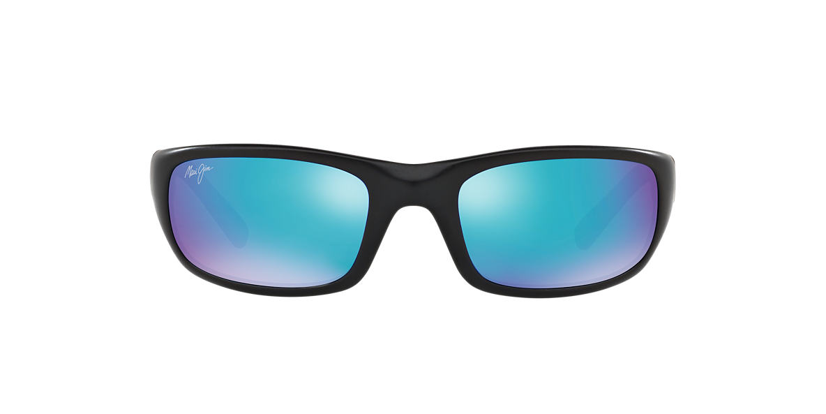 MAUI JIM Black Matte 103 STINGRAY BH 55 Blue polarized lenses 55mm