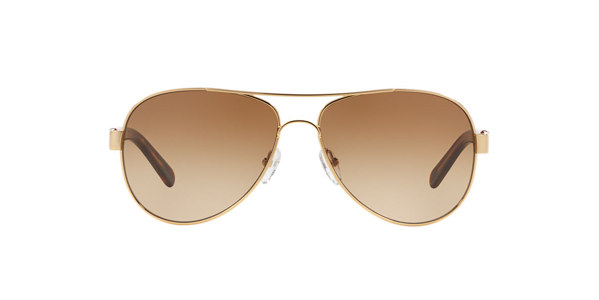 TORY BURCH Gold TY6010 (57) Brown lenses 57mm