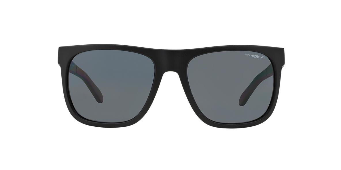 ARNETTE Black Matte AN4143 FIRE DRILL Grey polarized lenses 58mm