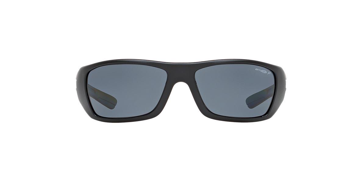 ARNETTE Black Matte AN4147 STICKUP Grey polarized lenses 63mm