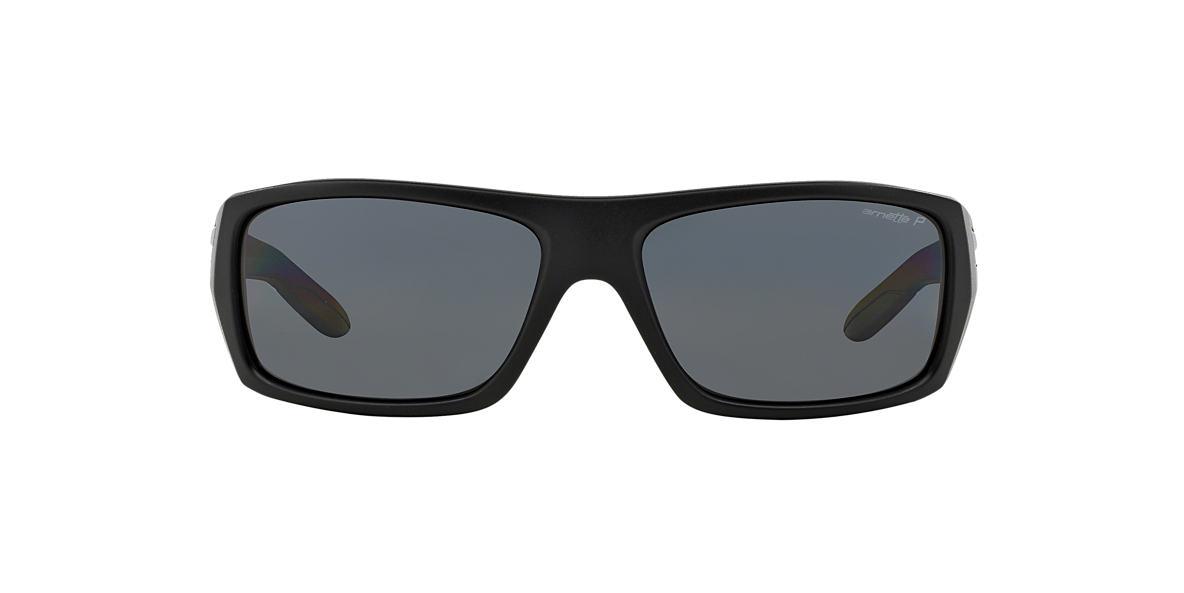 ARNETTE Black Matte AN4164 MUNSON Grey polarized lenses 60mm