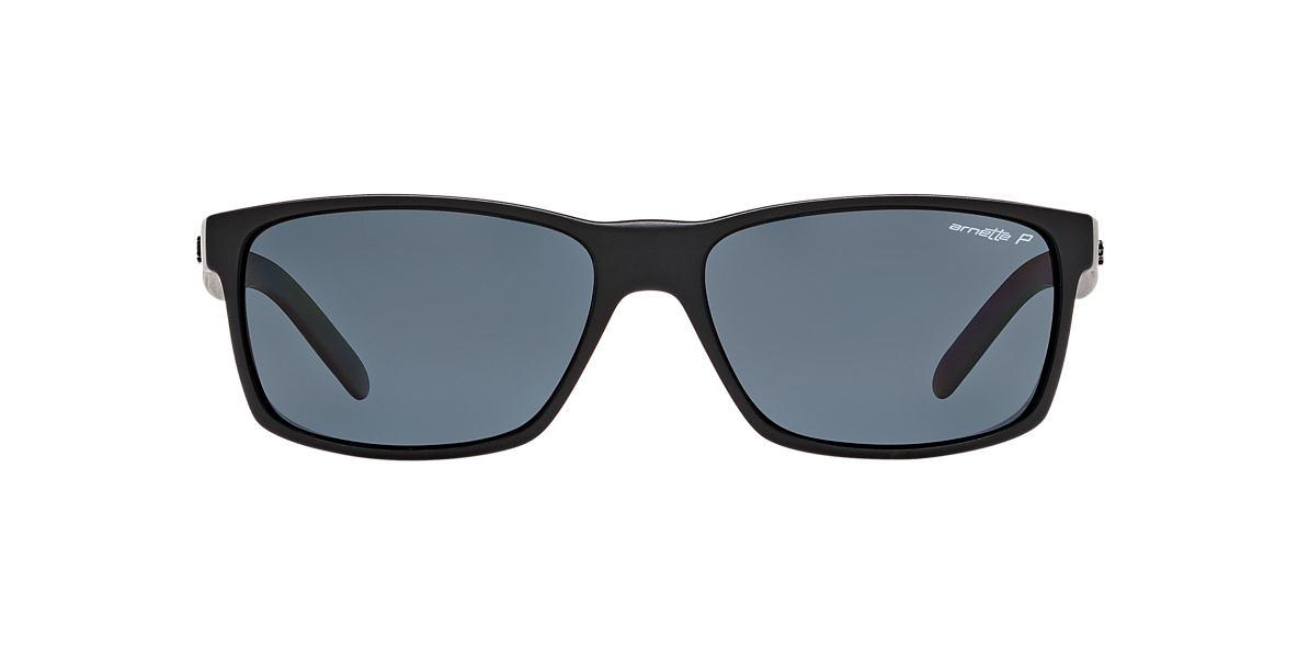 ARNETTE Black Matte AN4185 SLICKSTER Grey polarized lenses 58mm