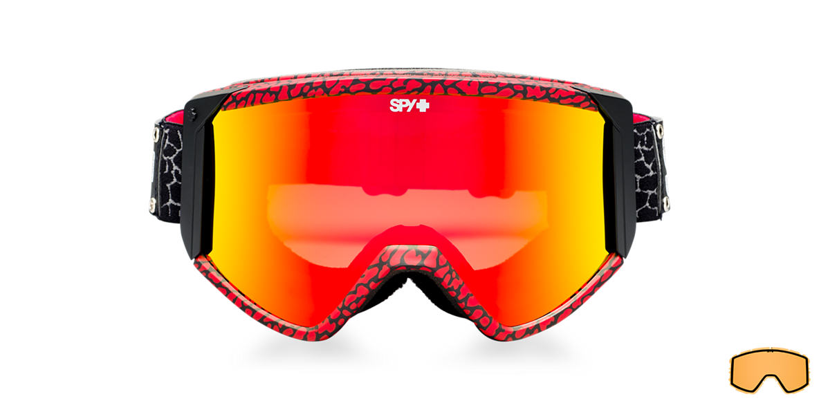 SPY GOGGLES Red RAIDER + STEVIE BELL Bronze lenses mm