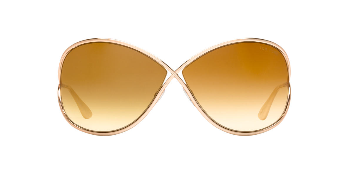 TOM FORD Gold FT0130 MIRANDA Brown lenses 68mm