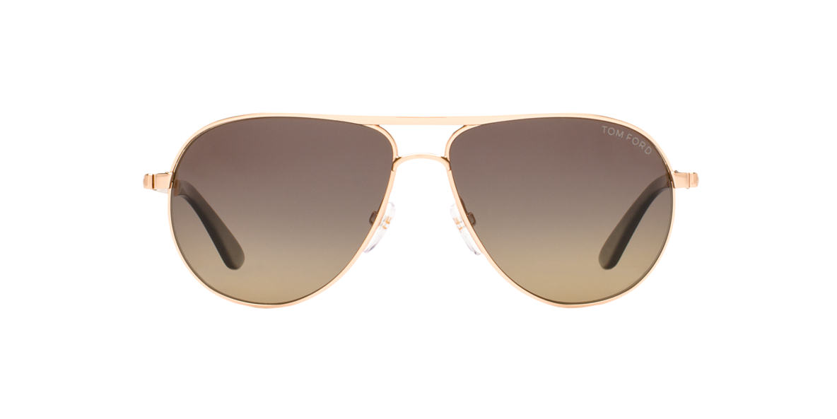 TOM FORD Rose Gold FT0144 MARKO Grey polarized lenses 58mm