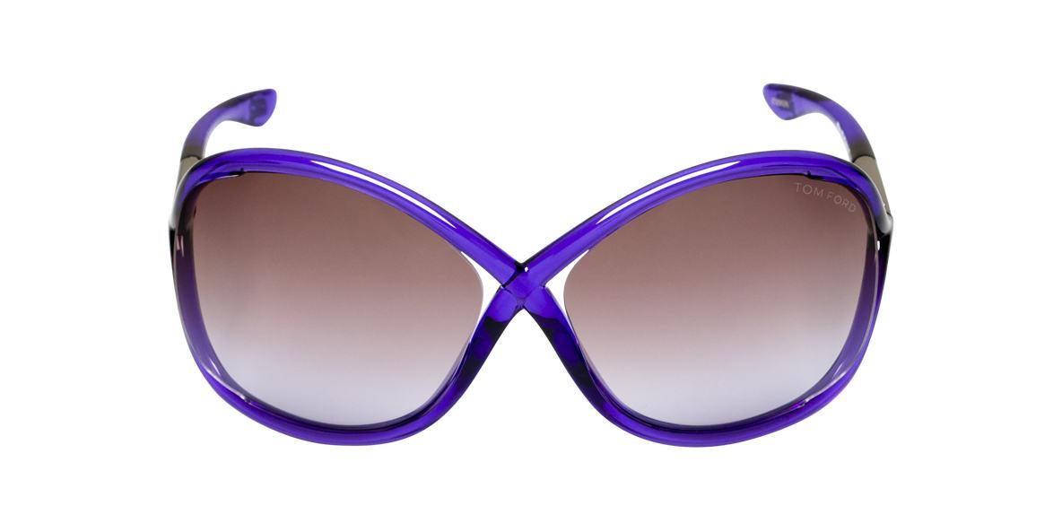 TOM FORD Purple FT0009 WHITNEY Brown lenses 64mm