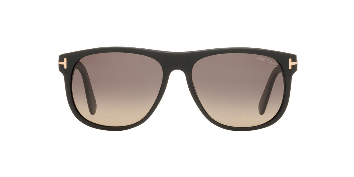 TOM FORD Black Matte FT0236 Grey polarized lenses 52mm