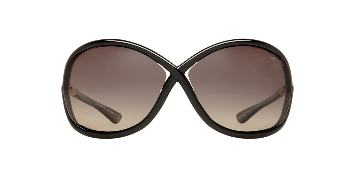 TOM FORD Black FT0009 WHITNEY Grey polarized lenses 64mm