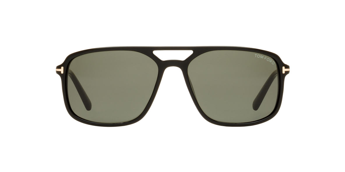 TOM FORD Black FT0332 TERRY Green lenses 58mm