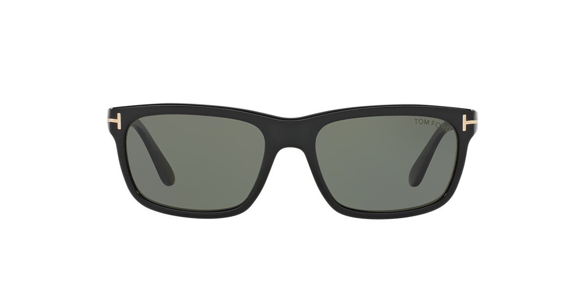 TOM FORD Black FT0337 HUGH Green polarised lenses 55mm