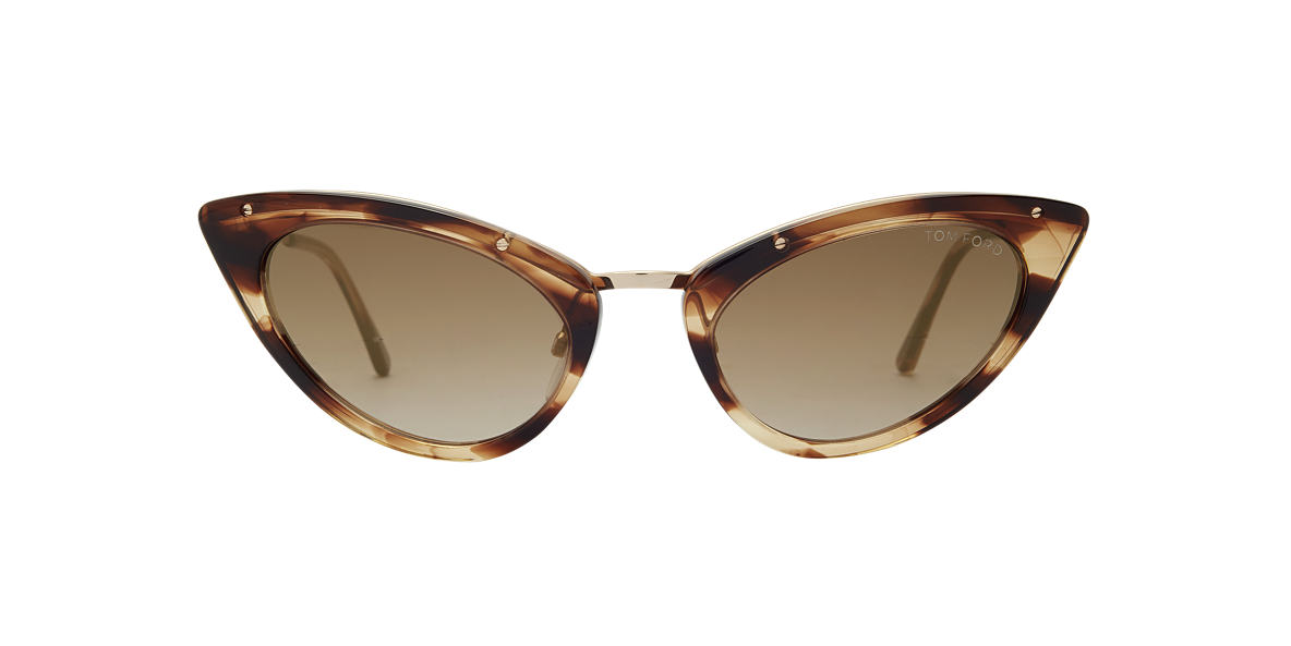TOM FORD Brown FT0349 GRACE Gold lenses 52mm