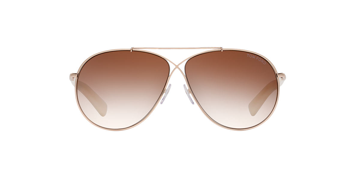 TOM FORD Gold TFS374 Brown lenses 61mm