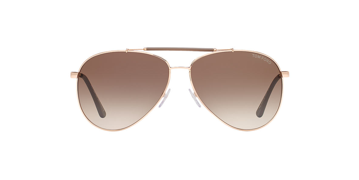 TOM FORD Rose Gold FT0378 62 Brown lenses 62mm