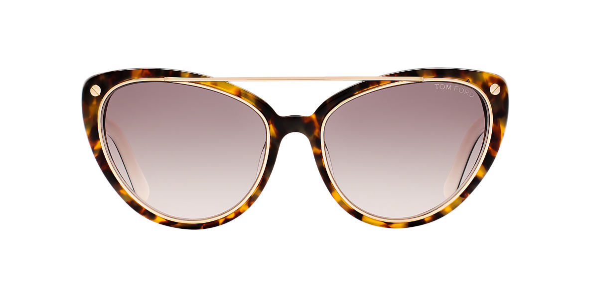 TOM FORD Tortoise FT0384 EDITA Green lenses 58mm