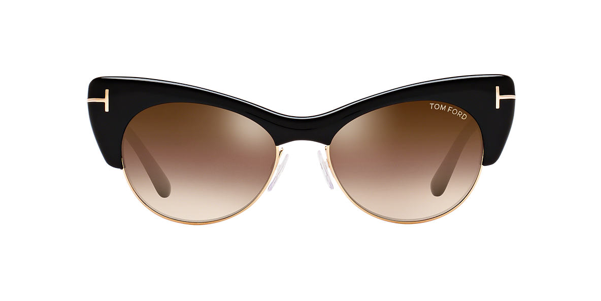 TOM FORD Black FT0387 LOLA Brown lenses 54mm