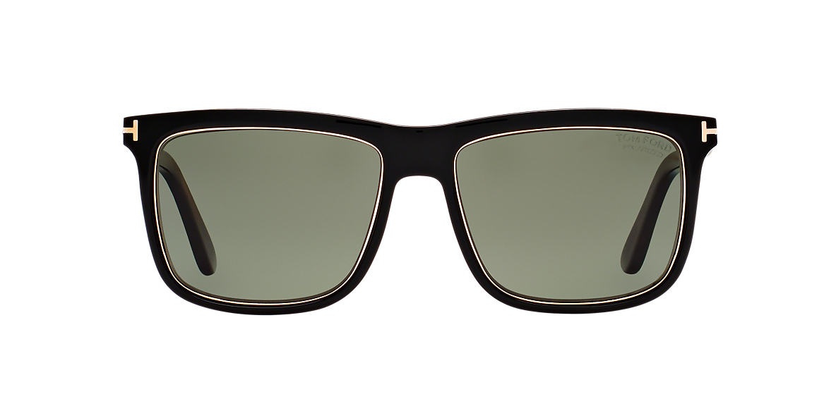 TOM FORD Black FT0392 01R 57 Green polarised lenses 57mm