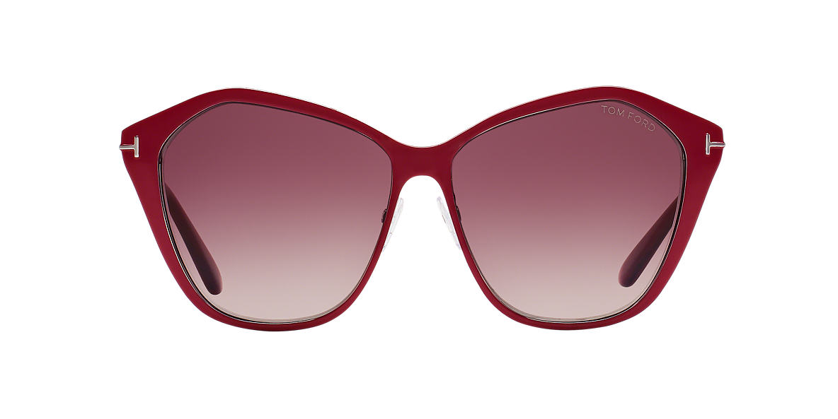 TOM FORD Burgundy FT0391 LENA Red lenses 58mm