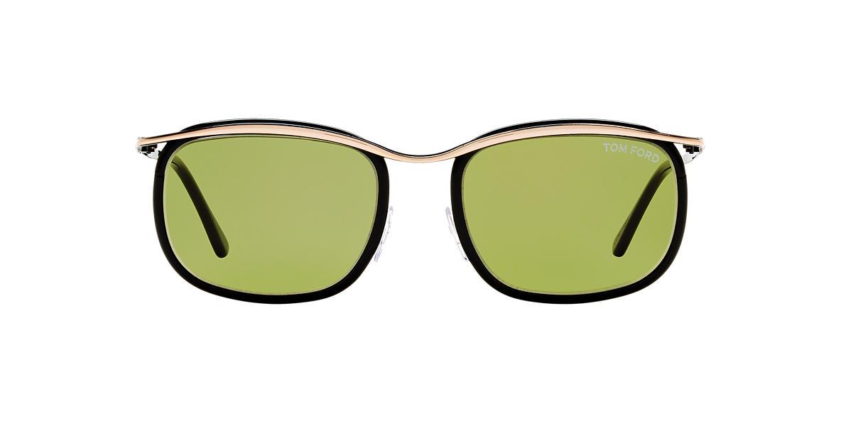 TOM FORD Black FT0419 MARCELLO Green lenses 53mm