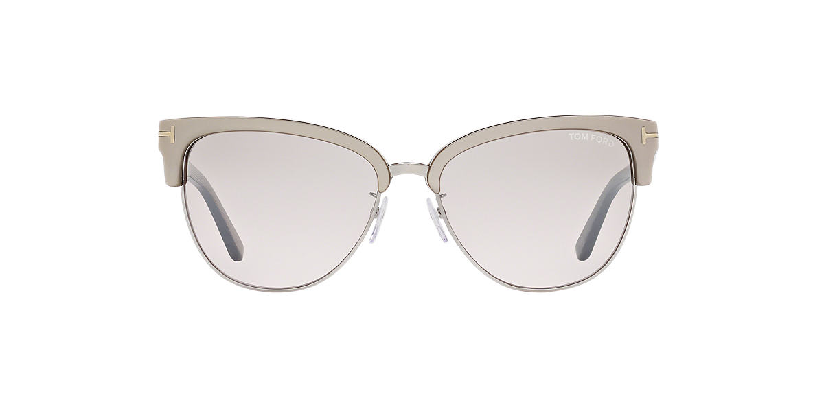 TOM FORD Brown FT 0368 FANY 59 Silver lenses 59mm