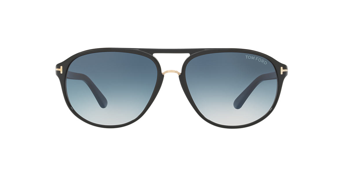 TOM FORD Black FT0447 JACOB 60 Blue lenses 60mm
