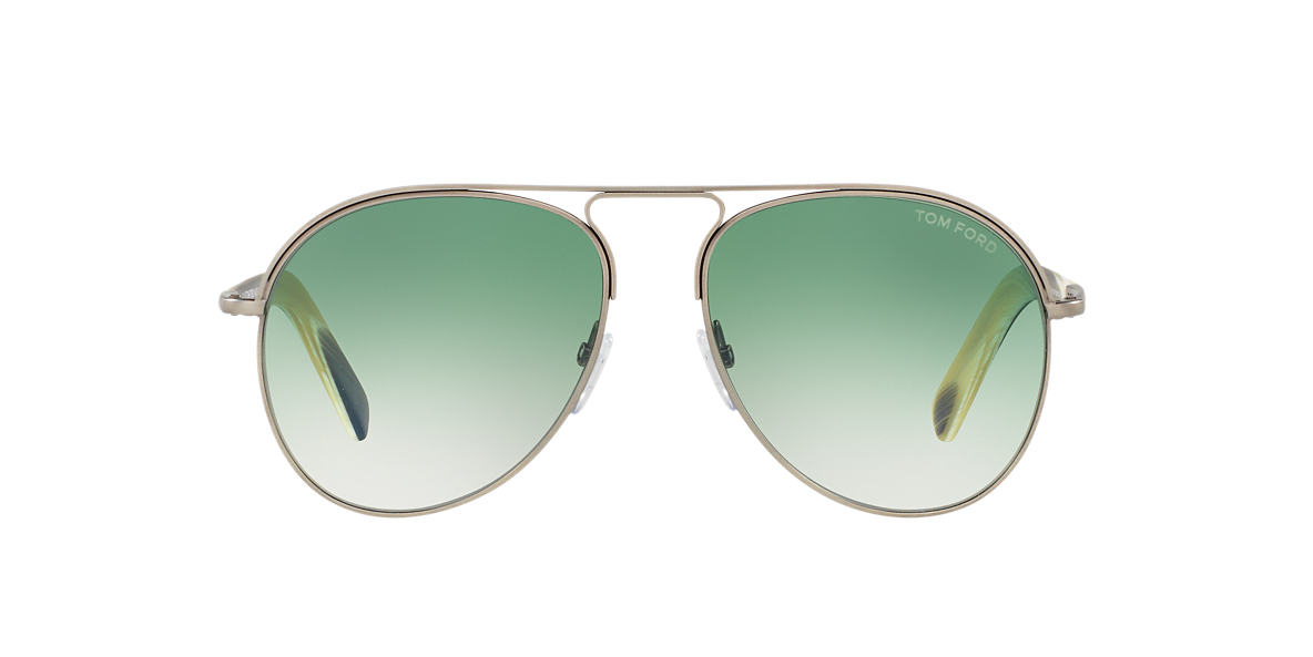 TOM FORD Gunmetal Shiny FT0448 CODY 56 Green lenses 56mm