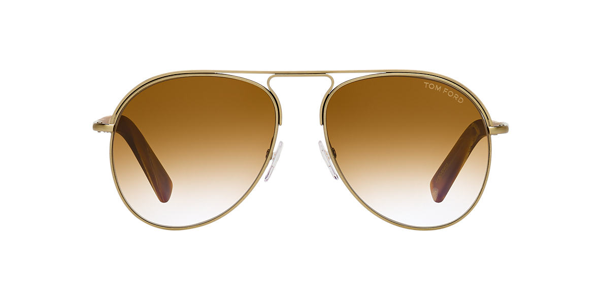 TOM FORD Gold Shiny FT0448 CODY 56 Brown lenses 56mm