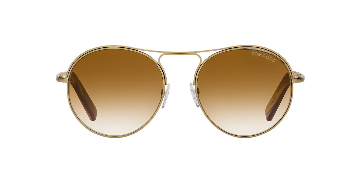 TOM FORD Gold Shiny FT0449 JESSIE 54 Brown lenses 54mm