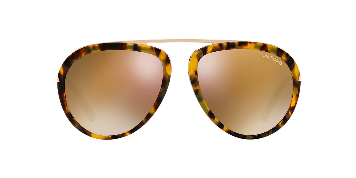 TOM FORD Tortoise FT0452 STACY 57 Rose Gold lenses 57mm