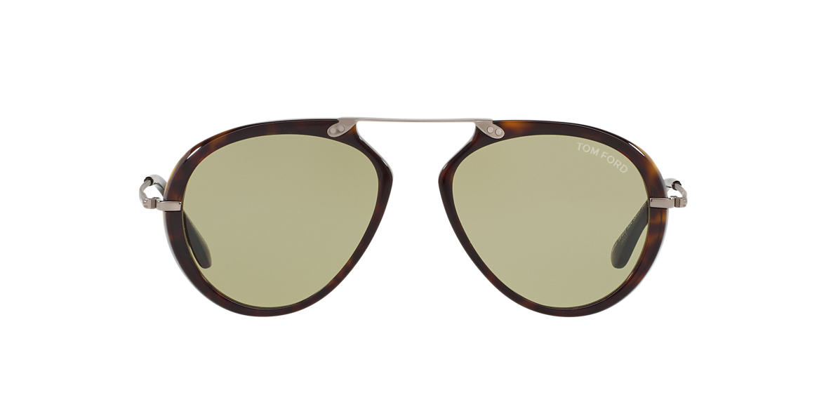 TOM FORD Brown FT0473 AARON 53 Green lenses 53mm