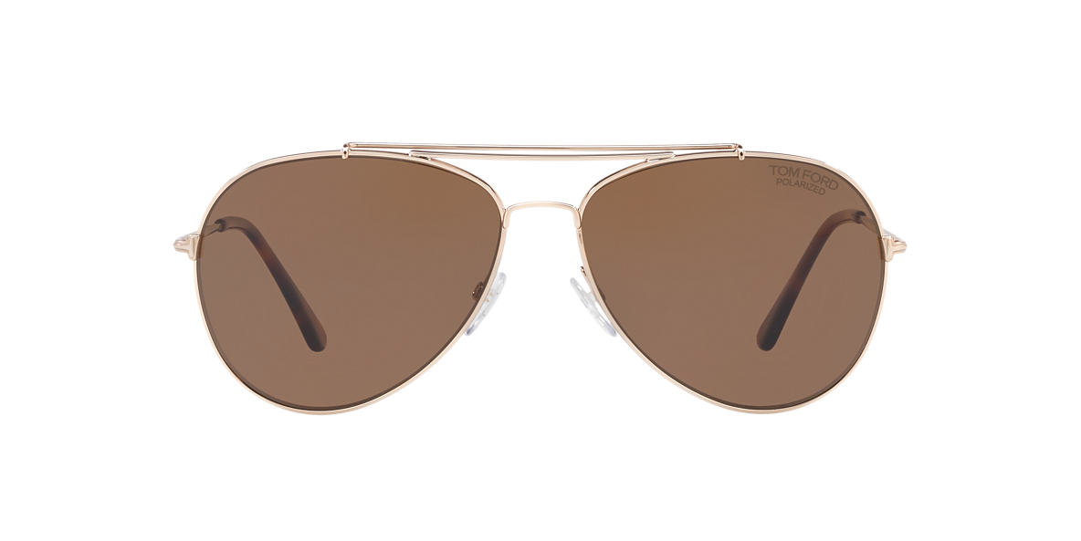 TOM FORD Rose Gold FT0497 60 Brown lenses 60mm