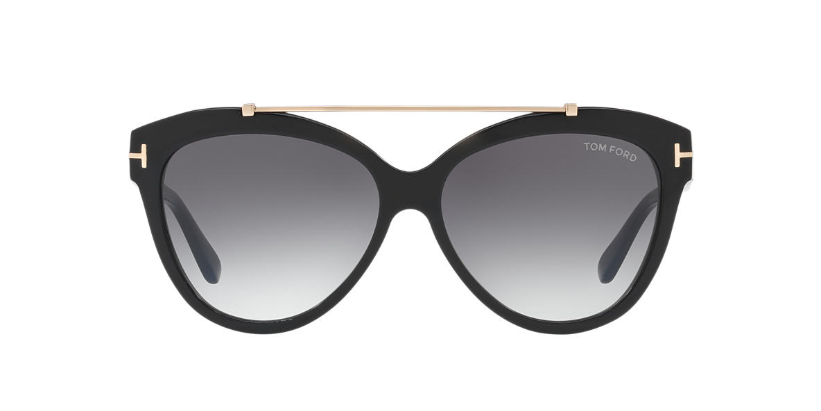 TOM FORD Black FT0518 LIVIA 58 Brown lenses 58mm