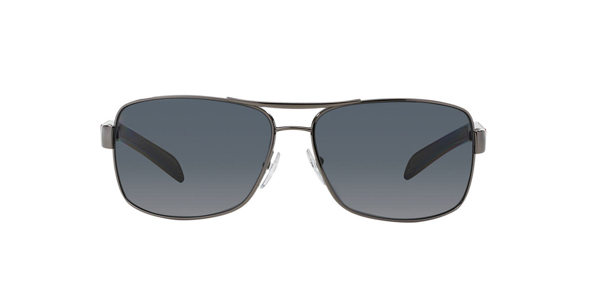 PRADA LINEA ROSSA Gunmetal PS 54IS Grey polarized lenses 65mm